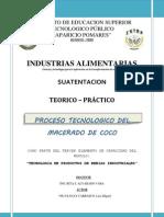 BEBIDAS ALCOHOLICAS - MACERADO DE COCO (HUÁNUCO-PERÚ)