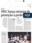 MEC lança sistema de proteção a professores