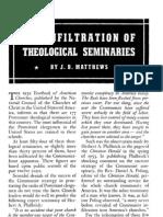 Red Infiltration of Theological Seminaries - J B Matthews