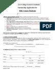 General Academic Scholarship Application