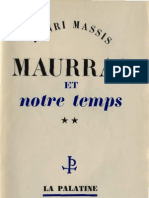 Henri Massis MAURRAS et NOTRE TEMPS Tome 2 Paris 1951