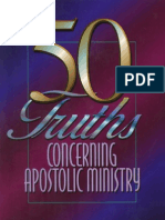 50 Truths Concerning Apostolic Ministry