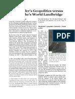 Mackinder's Geopolitics vs. LaRouche's Landbridge