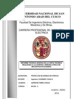 Informe Técnico de la Subestacion de Puno-Totorani y las lineas de transmision
