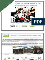 PAINEL FUNARTE DE MÚSICA POPULAR- agosto de 2012 planificação para os professores envolvidos (1)