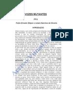 Vozes Mutantes - Tci (Pedro Ernesto Stilpen e Lzaro Sanches de Oliveira)