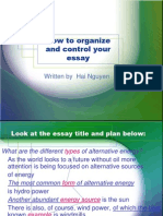 Unit 7 How to Organize and Control Your Essay