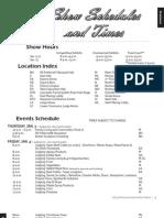 Tentative Schedule of Events