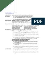 Architect Resume 1