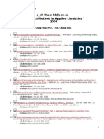 References of Research Method in Applied Linguistics 2008