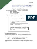 Oracle9i Extensiones Para Sentencias DML y DDL
