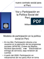 àrticipacion en la politica social del peru