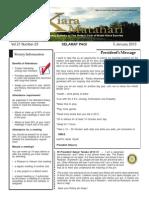 RCBKS Bulletin Vol 21 No 23