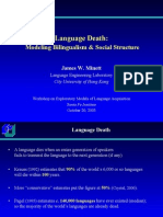 Language Death - Modelling Bilingualism & Social Structure