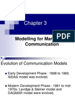 Ch 3 Modelling for Marketing Communication