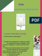Total parenteral nutrition