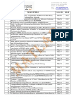 IEEE matlab titles 2012