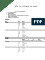 Problem List for Client 4