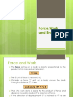 Force , Work and Energy