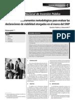 Instrumentos Metodologicos Para Evaluar Las Declaraciones de Viabilidad Otorgadas en El Marco Del Snip 1era. Parte