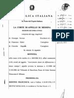 Sentenza Corte Appello - Fondazione Lucifero