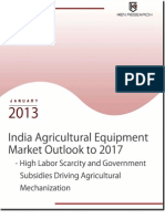 India Agricultural Equipment Market Outlook to 2017 - High Labor Scarcity and Government Subsidies Driving Agricultural Mechanization