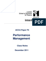 ACCA F5 LSBF Class Notes December 2011