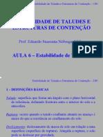 Estabilidade de Taludes e Estruturas de contenção