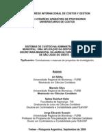 Sistemas de custeio na administração pública municipal