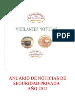 """ANUARIO DE NOTICIAS DE SEGURIDAD PRIVADA """"AÑO 2012"""""""