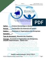 economie et organisations des entreprises