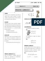 Guia 3 - Expresiones Algebraicas - Monomios - Polinomios
