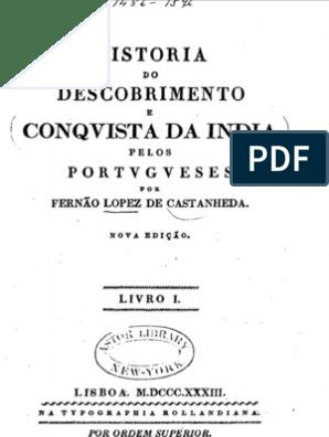 História do Descobrimento e Conquista da India pelos