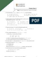 Problem Sheet 01