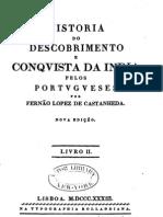 História do Descobrimento e Conquista da ìndia pelos Portugueses - Fernão Lopez de Castanheda