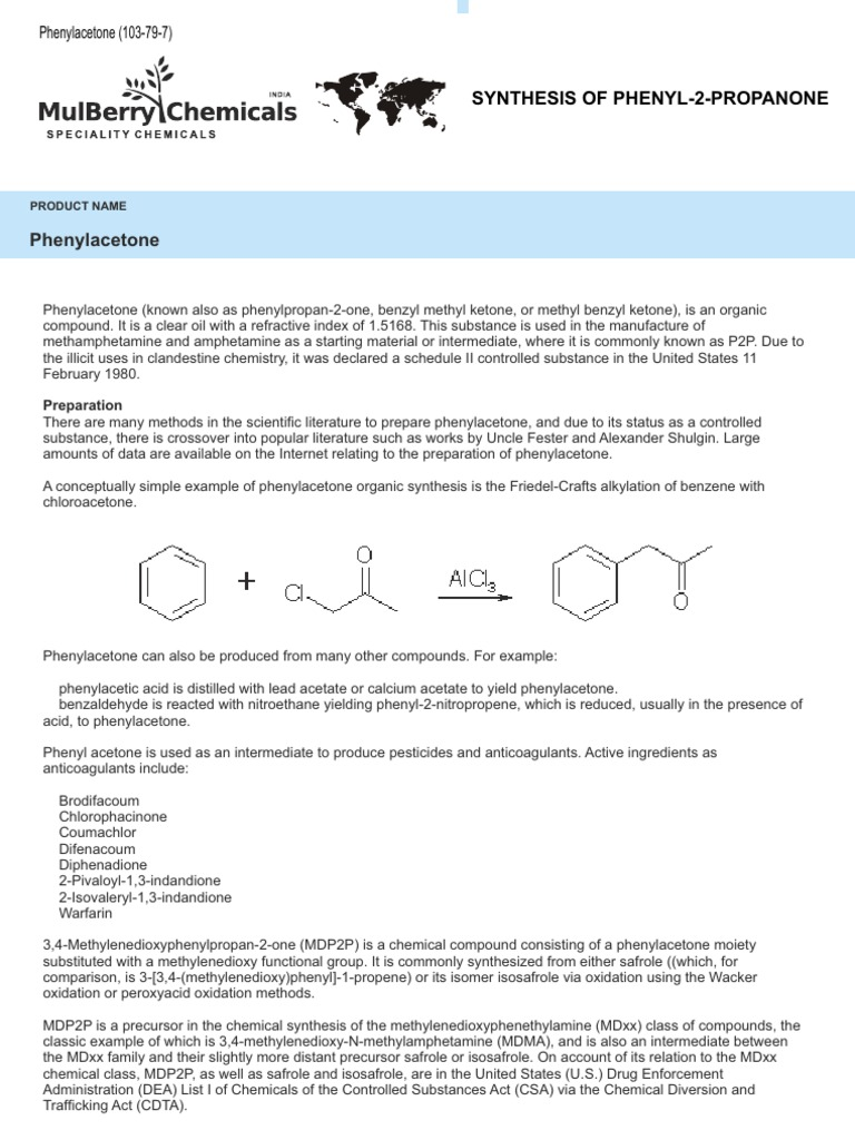 Synthesis of Phenyl-2-Propanone   Distillation   Acetic Acid