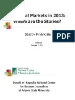 Financial Markets in 2013