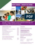 RGU International Office January 2013 Start Courses