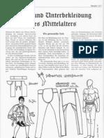 Bein- und Unterbekleidung des Mittelalters