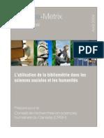 Bibliometrie Sciences Sociales
