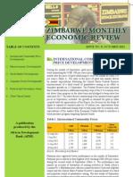 Zimbabwe - Monthly Economic Review - October 2012
