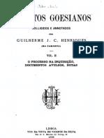 Inéditos Goesianos; O processo na Inquisição, documentos avulsos