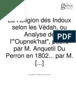 Lanjuinais - La Religion Des Hindoux (1823)