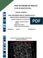 Reglamento de comercio en vía pública del municipio de Culiacan
