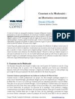 Constant et la Modernité : un libertarien conservateur