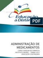 CURSO VIAS MEDICAMENTOSA PROFESSOR CESAR VENANCIO