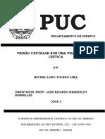 PRISÃO CAUTELAR SOB UMA VISÃO SOCIAL E CRÍTICA - MICHEL LOBO TOLEDO LIMA