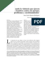 Pensando la violencia que ejercen los hombres contra sus parejas: problemas y cuestionamientos
