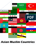 Muslim Countries In Asia With their Flags