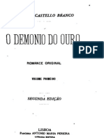 O demónio de ouro, de Camilo Castelo Branco